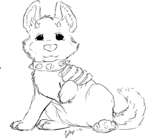 Cutest Hell Hound ever by omfgitsbutter