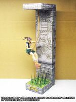 teen Lara papercraft vignette final build by ninjatoespapercraft