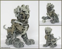 Bionicle MOC: Chinese Lion Statue by Rahiden