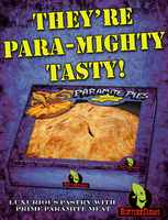 Paramite Pies advertising poster by zimmii