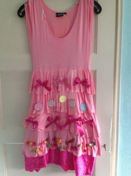 the front of my pinkie pie dress almost finished by Fantasy-Girl19