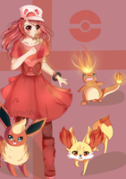 Pokemon Color Challenge~ Day 2: Red by Pomskyy