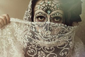 Behind the curtain. by MUA-Maano