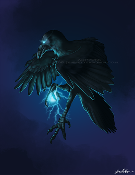 Light Raven by sugarpoultry