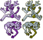 Mega Mewtwo X and Y GSC Sprites by Axel-Comics