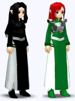 Taldeer and Macha in Mabinogi by meltyhonny