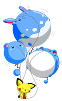 Inflated Marill family by selphy6