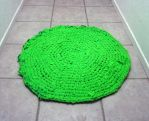 Sour Apple Rag Rug by Dragonrose36