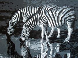 Zebras Oil Painting by Boias