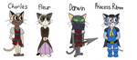 Fancharacters: Pero and the assassins' parents by ChibiEvilCupcake