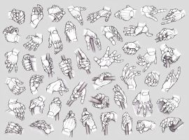 Hand Studies: Male hands 2 (Robotized) by HIRVIOS