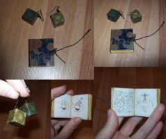 TES: Mini book and earings - 'Dwemers' by Sereniti-Dragonheart