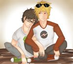 Dave Strider And John Egbert by SatiricalKat