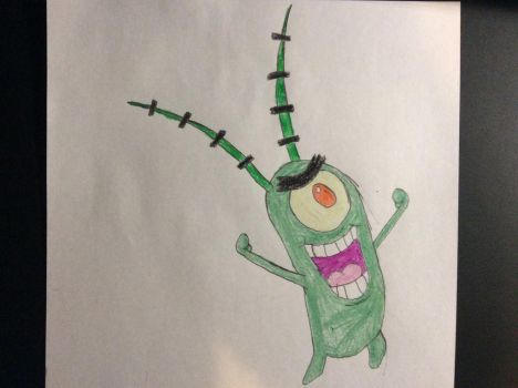 My drawing of Plankton (Spongebob Squarepants) by SplatCrosser