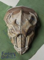 Dragon  pauldron mask Skyrim armor by Fantasy-Craft