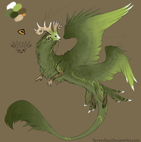 DC: Forest elemental goatdragon thing by Screeches