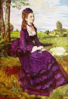 Purple dressed lady reproduction by LeBlan