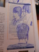 Albert, Victor and Carlos in my History book by Apoloelmaschulo