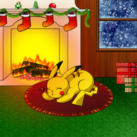 Pikachu's Christmas Eve Night by Bishiglomper
