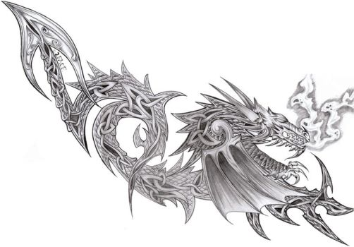 Tattooflash Celtic Dragon by 2Face-Tattoo