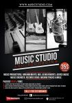 Music Recording Studio Flyer Poster by Giunina