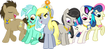 The Background Mane 6 Elements of Harmony by jaybugjimmies