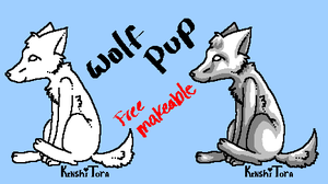 Free Wolf Pup Makeables:PAINT: by KenshiTora