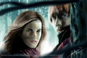 Hermyoninny Granger and Roonil Wazlib by EternalTale