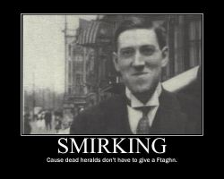 hp lovecraft suppressing a grin and failing by redig76