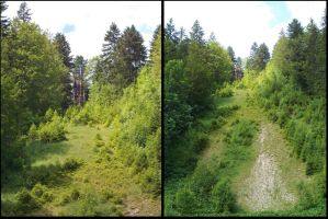 Abandoned Ski Jumping Hill, All the Way Down by MoonyMina