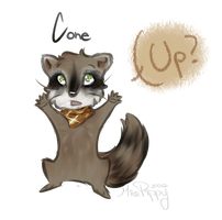 Cone the Raccoon by PippinPeanut
