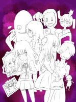 Ib, Mad Father and Yume Nikki(WIP) by OriChes