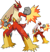 257 - Blaziken - Art v.2 by Tails19950