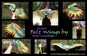 Felt Wings .:. Rainbow by Kamakru