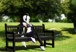 _MMD_ Park bench _DL_ by xXHIMRXx