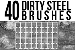40 Dirty Steel Brushes by pushaloo