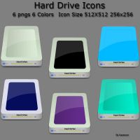 Hard Drive Icons by chamirra