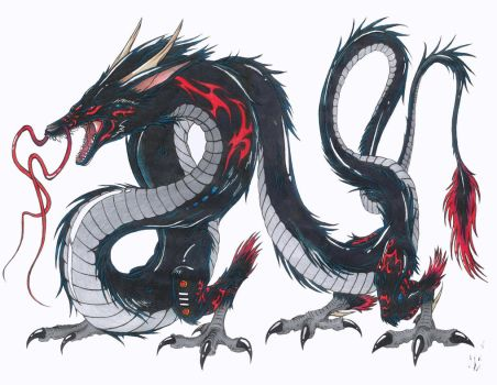 Black Dragon Takarabria, ver.2 by ShokokuPhoenix
