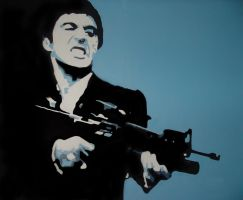 Scarface Pop Art by Gorky86