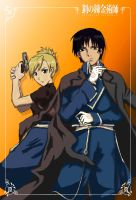 Roy Mustang and Riza Hawkeye by SunHee2244