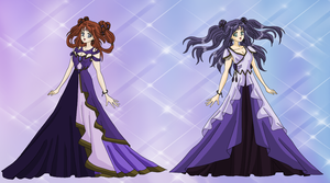 Princess Iolite and Princess Asuka by MahouChikara