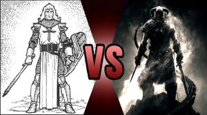 Death Battle The Avatar vs The Dragonborn 2 by Volts48