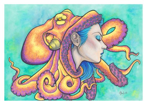 Octopus Hat by BlueUndine