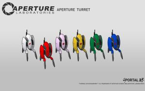 Aperture Turret Wallpaper by Zeptozephyr