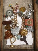 Heirloom trinkets bracelet by janedean