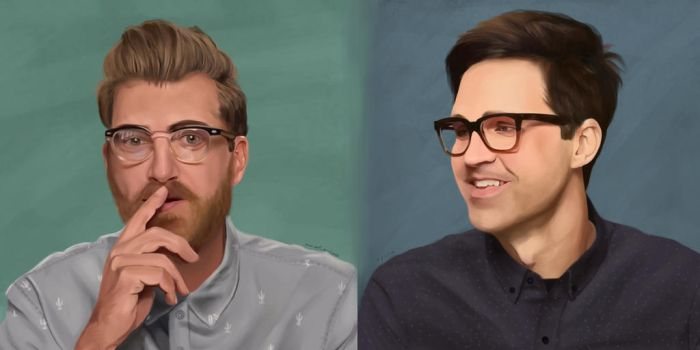 Rhett And Link sketches by TopHat-And-Tentacles
