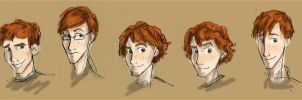 Weasley sketches by HILLYMINNE