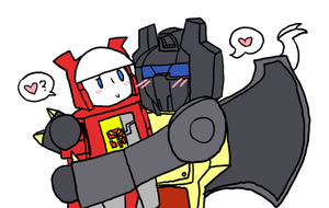 Blaster and Grimlock by RamenXfox
