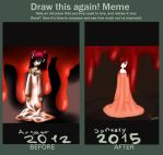 redrawing my first drawing on DA by frenci97xp