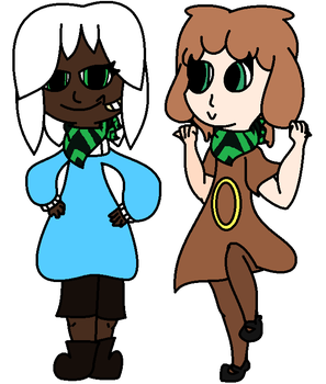 Super Mystery Dungeon, Human Rocky and Kylee by Halo-The-Eevee